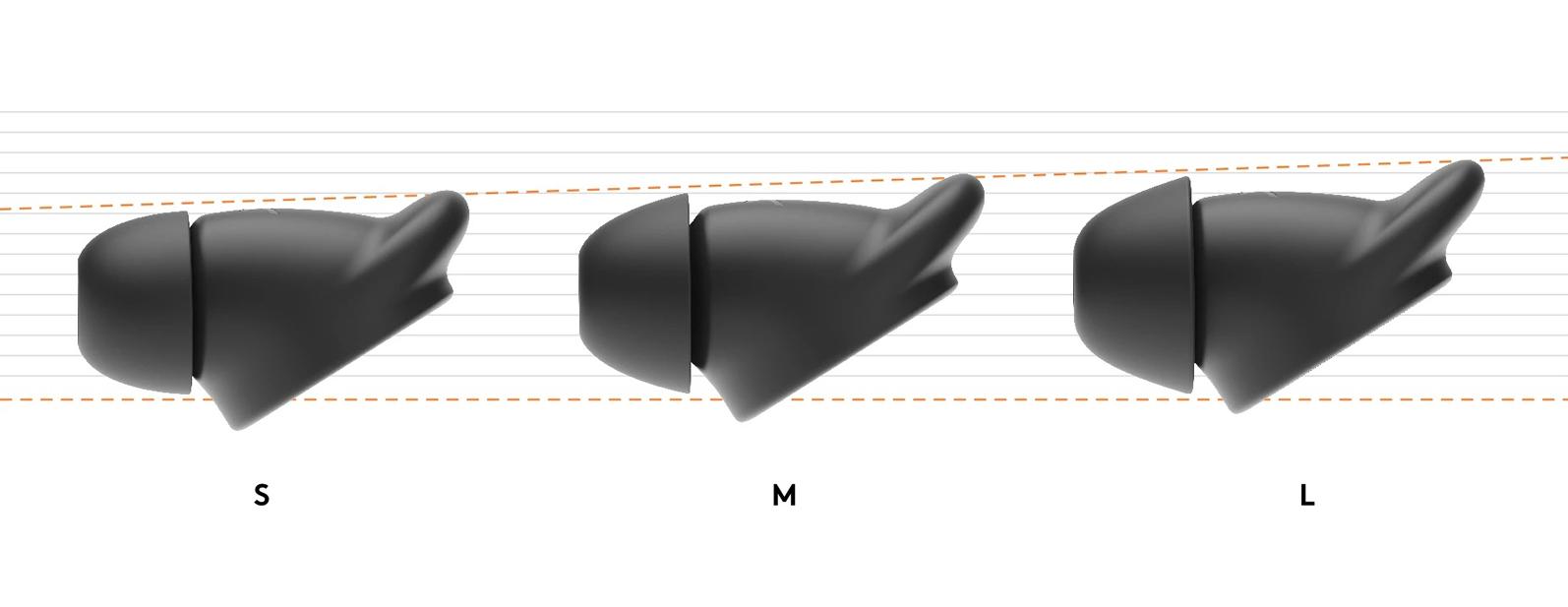 Logitech Zone Wired Earbuds tre dimensioni   DV Informatica